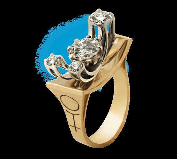 Кольцо с бриллиантами Плутон из коллекции Космогония. Ювелир Игорь Орлов