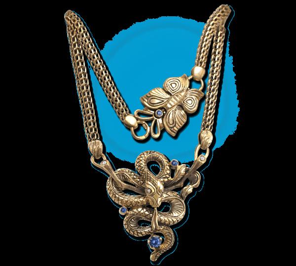 Золотой кулон Змея