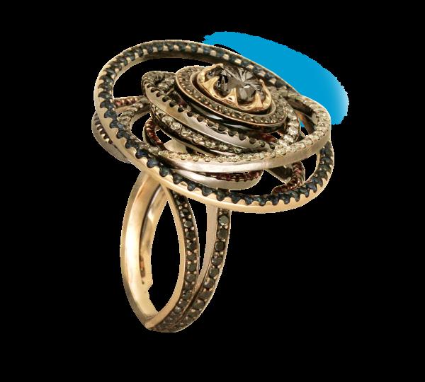 Золотое кольцо Уран из коллекции Космогония